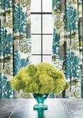Thibaut Daintree Fabric in Blue on White